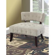 Tufted Accent Chair, Multiple colors. Love this for my formal living room