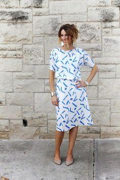 How to Sew a Simple Blouson Dress - Tutorial | ONE little MOMMA | Bloglovin'