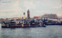 Early-Colour-Postcard-showing-Seacombe-Ferry.. Posted from CHESTER, Pennsylvania to Philadelphia - 1909