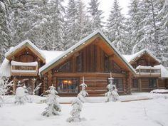 Log cabin up near Crystal Mountain