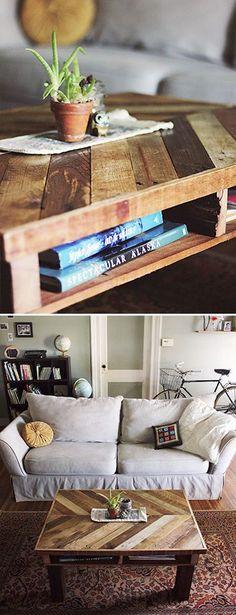 Creative DIY Coffee Table Projects • Ideas & Tutorials! #palletcoffeetables