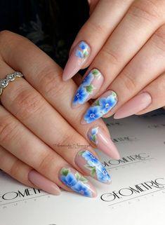 One strokowe kwiaty zawsze w modzie! <3 E Pipe, One Stroke, Geometric Art, Nails, Painting, Beauty, Hipster Stuff, Wish, Finger Nails