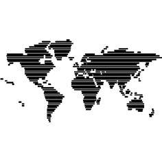 Stickers wereldkaart PAYS_ET_VILLES_009 : Versier uw huis met muurstickers en interieurstickers | Ambiance-live.com