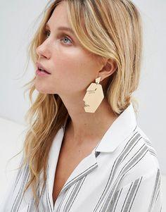 Mango | Mango face earrings in gold