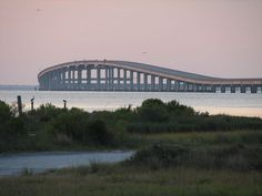 St. George Island Bridge, Florida.    Interested in vacationing in the area?  Click here for accommodations: http://collinsvacationrentals.com/