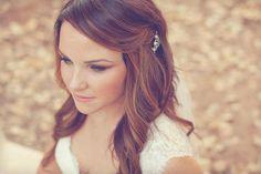 Bridal Hair - down, long with pin