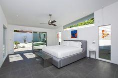 Beachy colors modern bedroom Rose Residence by PSModern