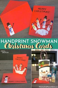 Thinking of making DIY Christmas Cards this year? Check out these fun and adorable Handprint Snowman Christmas Cards! They make a heartwarming holiday greeting as well as a fun and festive kids activity.