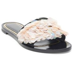 Fendi - Chameleon Metallic Leather Block Heel Sandals - saks.com ($1,250) ❤ liked on Polyvore featuring shoes, sandals, colorblock sandals, metallic leather sandals, fendi, block heel sandals and metallic sandals