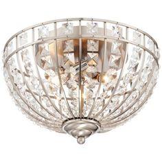 """Panir Jewel 13"""" Wide Brushed Nickel Ceiling Light"""
