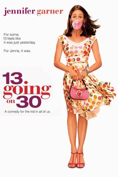 13 Going on 30 is a positively adorable movie! Jenna is am13 year old girl that wishes she was thirty, annnd she gets her wish. But when she ends up in New York and has no idea what she's doing she wishes she could just go back to her 13 year old self! It's a great movie for a rainy day or even date night.