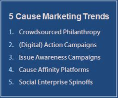 Digital Strategy for Good: Avoiding Cause Marketing Missteps - 5 Key Trends. Download our new eGuide to find out how you can understand and adapt the latest trends in cause marketing to deepen your relationships with consumers.