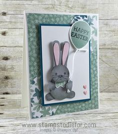 Cookie Cutter Christmas Stamp Set & Cookie Cutter Builder Punch - Easter Bunny Card www.stampstodiefor.com