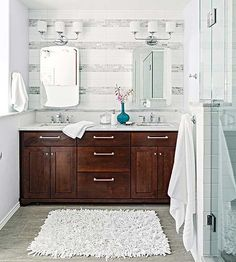 Try our top uses for white vinegar in the bathroom, including cleaning tile surfaces.