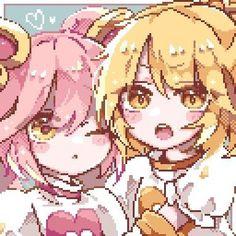 Anime Pixel Art, Anime Art, Pretty Art, Cute Art, Piskel Art, Arte 8 Bits, 8bit Art, Art Icon, Kawaii Art