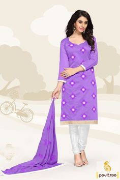 Top most casual fashion exclusive purple color nazneen casual wear dress online shopping with dupatta. Get this chanderi cotton formal salwar kameez for Interview at cheap rates. #salwarsuit, #Indiandresses, #dress, #dressesonline,  #casualdresses, #formaldresses, #churidarsalwarkameez, #officewearsalwarsuit, #formalsalwarkameez, #dailywearsalwarsuit More Info.: http://www.pavitraa.in/store/casual-dress/ Any Query:			 Call Us:+91-7698234040 E-mail: info@pavitraa.in