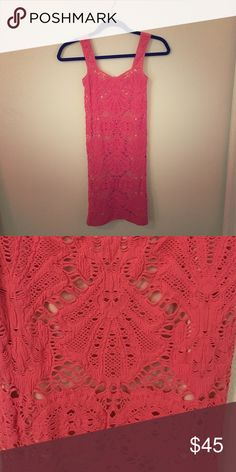 Free People bodycon dress Free People coral dress. 92% nylon. 8% spandex. Cute for a summer party! Free People Dresses Mini