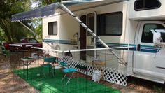 pop up camper storage ideas Michele Fry's Agility Dogs - Training and Competition: RV Improvements . Camping Car, Camping Hacks, Camping Ideas, Camping Theme, Camping Stuff, Rv Hacks, Motorhome, Portable Dog Fence, Astuces Camping-car