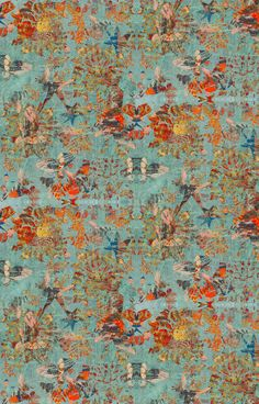 Modern wallpaper with added edge. Blackpop collaborates with the National Portrait Gallery creating breath taking painterly, abstract wallpapers and fabrics. Luxury Wallpaper, Contemporary Wallpaper, Of Wallpaper, Designer Wallpaper, Wallpaper Designs, Galerie Wallpaper, Chinoiserie Wallpaper, Unique Wallpaper, Home Interior