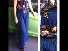 กางเกงยาวขาบานเอวสูงแฟชั่นเกาหลีTJ7488 ร้านLOTUSNOSS - YouTube