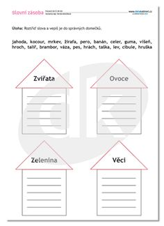 ČJ-DK 010 Slovní zásoba — datakabinet.cz Teaching English, Worksheets, Alphabet, Homeschool, Crafts For Kids, Language, Classroom, Activities, Education