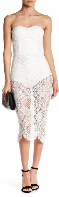 crochet strapless dress