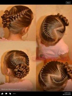 "I absolutely love this hairstyle. I really want Burton Burton ""Cute Girls Hairstyles"" to do this. I think it would be so cute in hair Lil Girl Hairstyles, Cute Hairstyles For Kids, Princess Hairstyles, Pretty Hairstyles, Braided Hairstyles, Hairdos, Updos, Hairstyles 2016, Kids Hairstyle"
