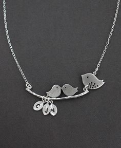 Mother's Day Jewelry  Silver One Family Necklace  by MenuetDesigns, $38.50
