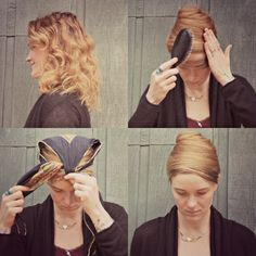 No-heat smoothing trick from the Vintage Hairstyling Archives