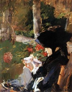 Edouard Manet, Manet's Mother in the Garden at Bellevue