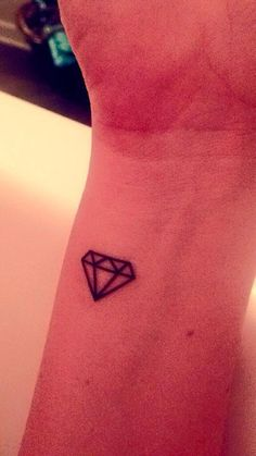 Temporary Tattoo 3 small diamonds alpha delta pi by FleetingInk