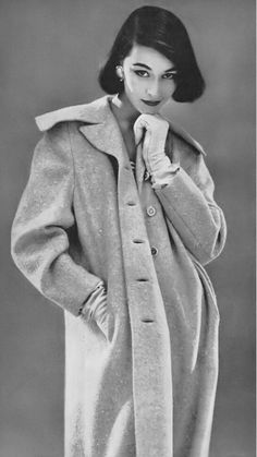 Anne Gunning, photo by Roger Prigent, Vogue, February 1, 1956