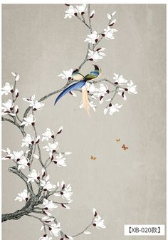 Painting Wallpaper, Mural Painting, Mural Art, Paintings, Chinese Painting, Chinese Art, Deco Paint, Japan Painting, Chinoiserie Wallpaper