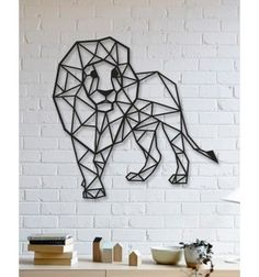 Draw Lions Geometric Lion Design Metal Wall Art - The most popular wall accessories in recent times. Increase your visibility with your Lion Metal Wall Art. Metal Tree Wall Art, Metal Art, Unique Wall Decor, Wall Art Decor, Wall Art Designs, Wall Design, Lion Origami, Quinta Interior, Bebidas Do Starbucks