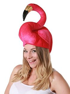 cdba6d3bba7 FLAMINGO HAT SUMMER FANCY DRESS COSTUME ACCESSORY HAWAIIAN WONDERLAND HAT  LARGE PINK FLAMINGO MENS   LADIES  Amazon.co.uk  Toys   Games