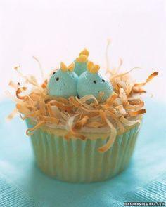 파랑새 둥지 컵케익