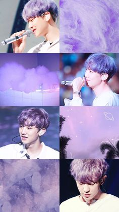 박 찬열 엑소 Park Chanyeol EXO purple aesthetic