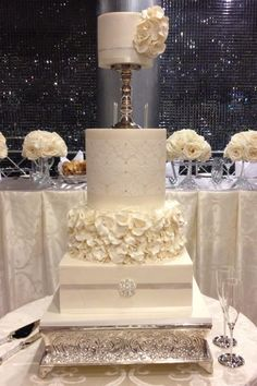 Gorgeous Wedding Cake by Cake Appreciation Society Member Glasshouse Cakes and Supplies