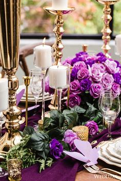 WedLuxe– Purple Princess | Photography by: Avenue Photo Follow @WedLuxe for more wedding inspiration! Co-Producer's, Co-Concept Creator's & Co-Creative Director's Lisa K Events & Mandy Calligraphy & Design