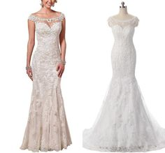 Find More Wedding Dresses Information about Real Pictures Illusion Neckline Wedding Dresses 2016 Designer's Lace Mermaid Wedding Gown With Appliques Custom ,High Quality gown cotton,China dress puzzle Suppliers, Cheap dresses ladies from Ayaya Dress Shop on Aliexpress.com