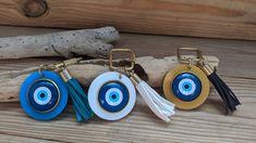 Εvil eye bag charm - Tassel evil eye keychain - Greek gift - You choose your color Necklace Sizes, Bracelet Sizes, Greek Evil Eye, Greek Gifts, Keychain Design, Evil Eye Pendant, Acrylic Charms, Evil Eye Jewelry, Evil Eye Charm