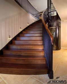 stairs stained wood - Google Search