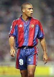 "68. Ronaldo Luís Nazário. Popularly dubbed ""the phenomenon"", he is considered by experts and fans to be one of the greatest football players of all time. Barca: 1996-1997, 34 goals in 37 appearances."