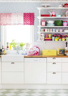kuva Kitchen Cabinets, Cupboards, Valance Curtains, Makeup, Home Decor, Kitchens, Interiors, Armoires, Make Up