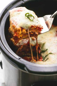 Slow Cooker Ravioli Lasagna   lecremedelacrumb.com