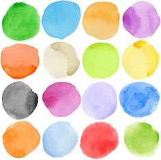 Picture of Watercolor hand painted circle shape design elements stock photo, images and stock photography. Watercolor Circles, Watercolor Walls, Abstract Watercolor, Wallpaper Decor, Custom Wallpaper, Photo Wallpaper, Forma Circular, Scandinavian Wallpaper, Create Your Own Wallpaper