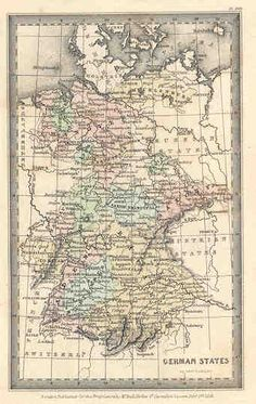 German States - Family Cabinet Atlas, 1831
