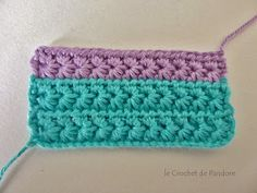 le Crochet de Pandore: Tuto du point étoile (star stitch)