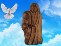Holy Family sculpture by Jesusolivewood on Etsy, $19.00