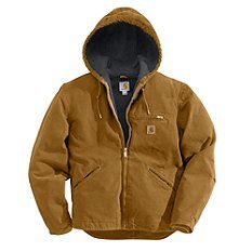 - Sandstone Sierra Jacket / Sherpa Lined Men's - X-Large, Tall - Carhartt Brown